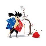 самураи японца сердца Стоковое Фото