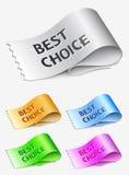 самые лучшие ярлыки выбора Стоковое фото RF