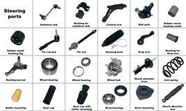 Самые популярные запасные части автомобиля шасси Стоковые Фото
