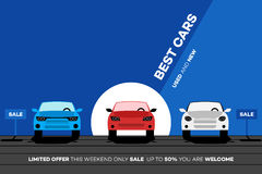 Самые лучшие автомобили в городе Иллюстрация вектора для Ренты Или Trading Торговой компании бесплатная иллюстрация