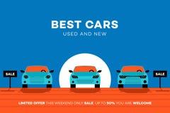 Самые лучшие автомобили в городе Иллюстрация вектора для Ренты Или Trading Торговой компании иллюстрация вектора