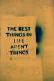 Самые лучшие вещи в жизни нет вещей Стоковое Фото