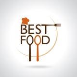 Самые лучшие значки вектора еды, знак, шаблон символа Стоковое Фото