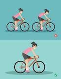 Самые лучшие и худшие положения для ехать велосипеда иллюстрация штока