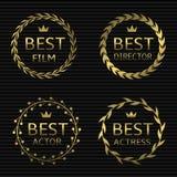 Самые лучшие награды фильма Стоковые Изображения