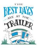Самые лучшие дни на плакате трейлера Стоковое Фото