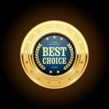 Самые лучшие отборные золотые insignia - медаль Стоковое Изображение