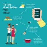 Самые лучшие подсказки selfie иллюстрация вектора