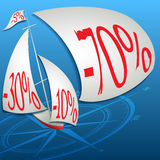 Самые лучшие скидки в океане цен Стоковое фото RF