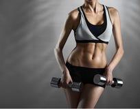 Самые лучшие формы Подрезанная студия сняла показа женского фитнеса модельного Стоковое Изображение RF