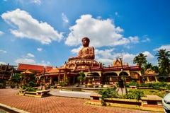 Самый большой сидя Будда на Wat Machimmaram Tumpat Kelantan Малайзии Приняло фото 10 /2/2018 Стоковое Изображение RF