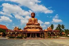 Самый большой сидя Будда на Wat Machimmaram Tumpat Kelantan Малайзии Приняло фото 10 /2/2018 Стоковые Изображения RF