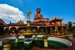 Самый большой сидя Будда на Wat Machimmaram Tumpat Kelantan Малайзии Приняло фото 10 /2/2018 Стоковые Изображения