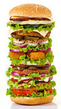 Самый большой бургер Стоковое Изображение RF