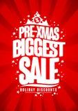 самый большой плакат продажи Пре-xmas, скидка зимних отдыхов иллюстрация штока
