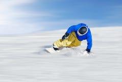 самый быстрый лыжник стоковое изображение