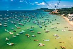 Самый длинный фуникулер, остров Phu Quoc в Вьетнаме стоковое фото