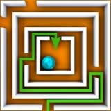 Самый короткий путь над апельсином бесплатная иллюстрация