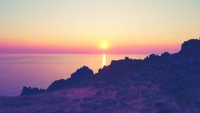 Самый красивый заход солнца Стоковые Фотографии RF