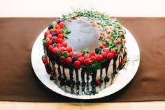 Самый красивый и самый очень вкусный торт Свадьба, день рождения Куриц-партийный Стоковые Фото