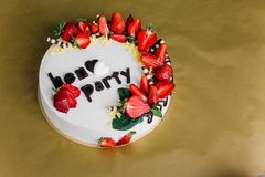 Самый красивый и самый очень вкусный торт Свадьба, день рождения Куриц-партийный Стоковые Фотографии RF