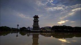 Самый красивый промежуток времени восхода солнца на ландшафте Kedah Малайзии видеоматериал