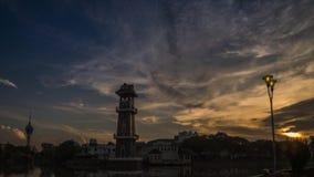 Самый красивый промежуток времени восхода солнца на ландшафте Kedah Малайзии акции видеоматериалы
