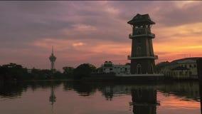 Самый красивый промежуток времени восхода солнца на ландшафте Kedah Малайзии сток-видео