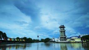 Самый красивый промежуток времени ландшафта на Kedah Малайзии сток-видео