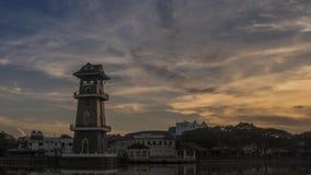 Самый красивый промежуток времени ландшафта на Kedah акции видеоматериалы