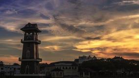 Самый красивый промежуток времени ландшафта на Kedah dunring восход солнца акции видеоматериалы