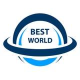 Самый лучший значок глобуса мира Стоковые Изображения RF