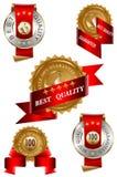 самый лучший комплект качества ярлыка Стоковое Изображение RF