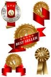 самый лучший комплект продавеца ярлыка Стоковые Фотографии RF