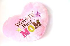 самый лучший мир подушки s мамы Стоковые Изображения RF