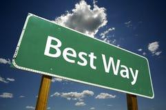 самый лучший путь дорожного знака Стоковая Фотография RF