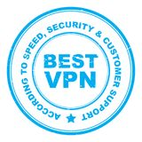 Самый лучший штемпель VPN иллюстрация штока