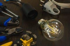Самый необходимый комплект инструментов для электриков ремонтов Стоковое Фото