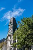 Самый полдень на башне с часами Квебека (город) стоковые фото