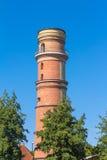 Самый старый маяк в Германии в Travemuende Стоковые Фотографии RF