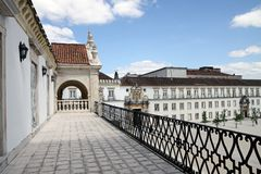 Самый старый университет в Европе в Коимбре, Португалии стоковая фотография