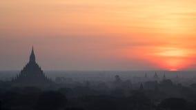Самый лучший восход солнца Bagan Стоковые Изображения