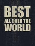 Самый лучший во всем мире Стоковое фото RF