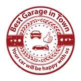 Самый лучший гараж в городке иллюстрация штока