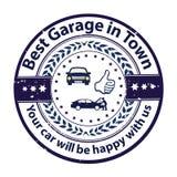 Самый лучший гараж в городке бесплатная иллюстрация