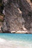 Самый лучший греческий пляж, Myrthos стоковое изображение rf