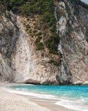 Самый лучший греческий пляж, Myrthos стоковое фото rf