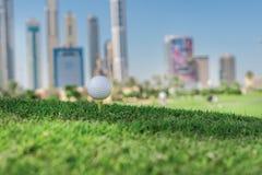Самый лучший день для играть в гольф Шар для игры в гольф на тройнике для bal гольфа Стоковое Изображение