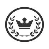 Самый лучший значок 2 успеха лаврового венка и кроны ярлыка награды Стоковое Изображение