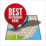 Самый лучший искатель ресторана бесплатная иллюстрация